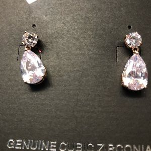 Genuine Cubic Zirconia Earrings